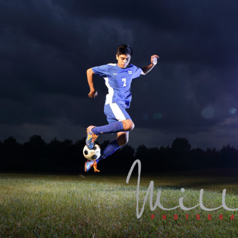 Soccer action shots for senior pictures